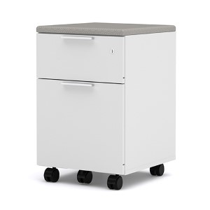 Pro-Linea White Assembled Mobile Pedestal