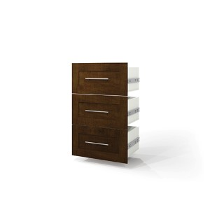 Pur Chocolate Three Drawer Set For 25-Inch Storage Unit