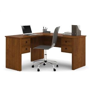 Somerville Tuscany Brown L-Shaped Desk
