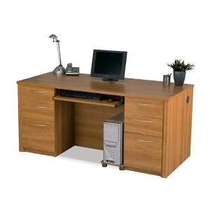Embassy Cappuccino Cherry Executive Desk Kit