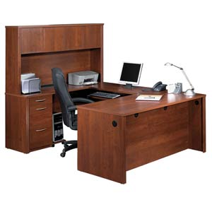 Embassy U-Shape Assembly with Hutch and Executive Desk