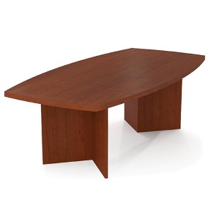 Bordeaux Boat Shaped Conference Table with 1.75-Inch Melamine Top