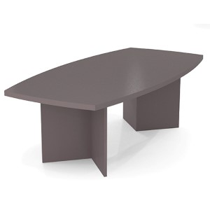 Slate Boat Shaped Conference Table with 1.75-Inch Melamine Top