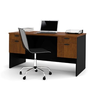 Hampton Tuscany Brown and Black Executive Desk