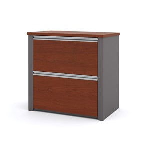 Connexion Bordeaux and Slate 30.8-Inch Length Lateral File Cabinet