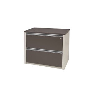 Connexion Slate and Sandstone 36-Inch Length Assembled Lateral File Cabinet