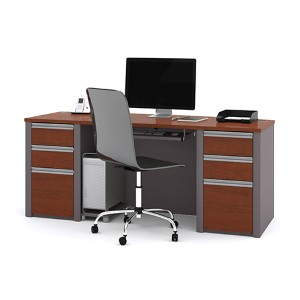 Connexion Bordeaux and Slate Executive Desk Kit