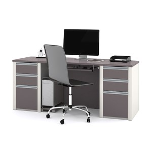 Connexion Slate and Sandstone Executive Desk Kit