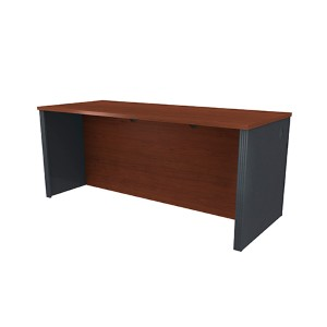 Prestige Plus Bordeaux and Graphite Executive Desk