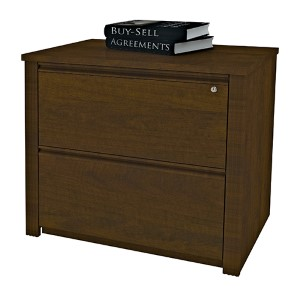 Prestige Plus Chocolate 36-Inch Length Assembled Lateral File Cabinet
