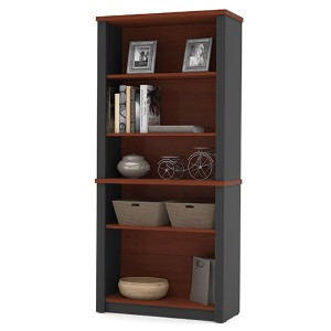 Prestige Plus Bordeaux and Graphite Modular Bookcase