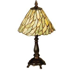 13-Inch Jadestone Willow Mini Lamp