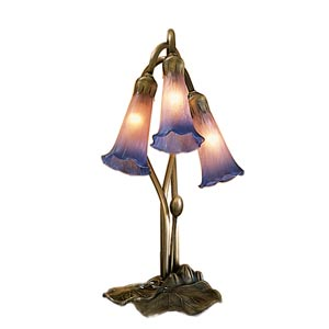 Three-Light Lily Pink/Blue Accent Lamp