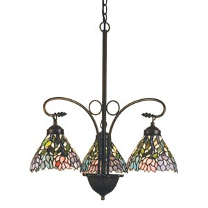 23-Inch Wisteria Three-Light Chandelier