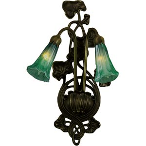 Two-Light Lily Green Sconce
