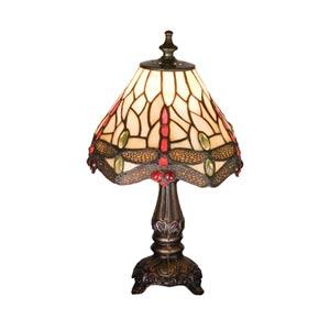 11.5-Inch Tiffany Scarlet Dragonfly Mini Lamp