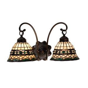 18-Inch Tiffany Roman Two-Light Wall Sconce