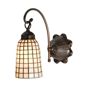 6-Inch Beige Geometric One-Light Sconce