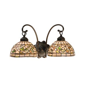 18-Inch Turning Leaf Two-Light Wall Sconce