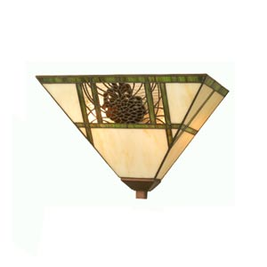 14-Inch Pinecone Wall Sconce