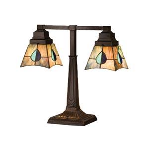 19.5-Inch Mackintosh Leaf Two-Light Desk Lamp