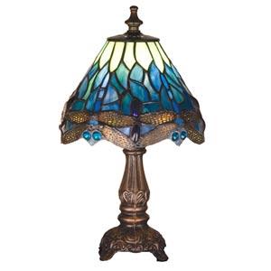 11.5-Inch Tiffany Hanginghead Dragonfly Mini Lamp