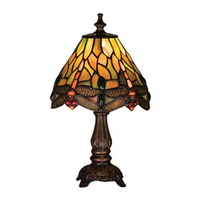 11.5-Inch Tiffany Hanginghead Dragonfly Mini Lamp