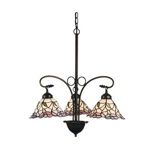 25-Inch Daffodil Bell Three-Light Chandelier