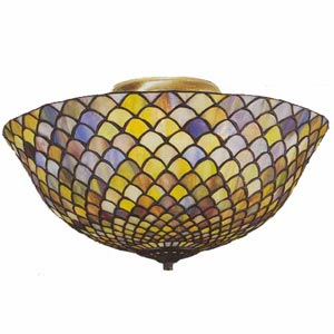 Fishscale Tiffany Ceiling Light