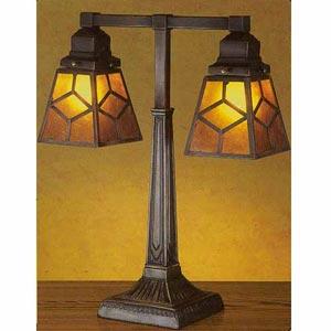 Mica Diamond Double Desk Lamp