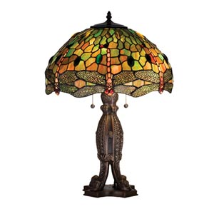 24.5-Inch Tiffany Hanginghead Dragonfly Table Lamp