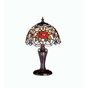 13-Inch Renaissance Rose Mini Lamp