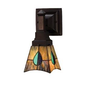 5-Inch Mackintosh Leaf One-Light Wall Sconce