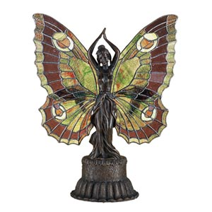 17 x 13 Butterfly Lady Accent Lamp