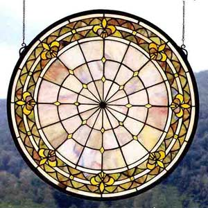 Fleur-de-lis Art Glass Window