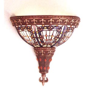 Fleur-de-lis Art Glass Wall Sconce