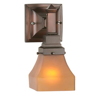 5-Inch Amber Bungalow Wall Sconce