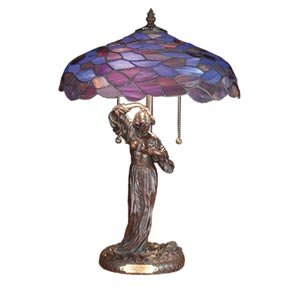20.5-Inch Maxfield Parrish Griselda Accent Lamp