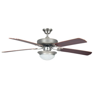 Heritage Fusion Satin Nickel 52-Inch Ceiling Fan with Light Kit