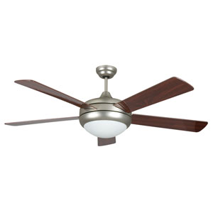 Saturn Satin Nickel 52-Inch Energy Star Ceiling Fan with Light Kit