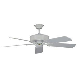 California Home White 60-Inch Ceiling Fan