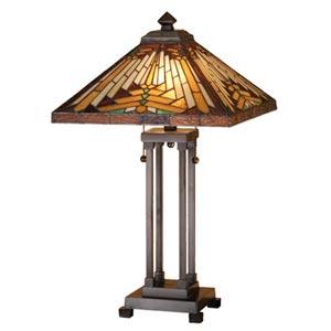 Quoizel Inglenook Tiffany Table Lamp Tft16191a1va Bellacor