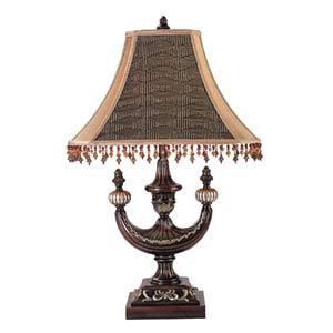 Alhambra Mocha Oblong Desk Lamp