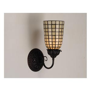 5-Inch Geometric Bone One-Light Wall Sconce