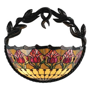 17-Inch Colonial Tulip Wall Sconce