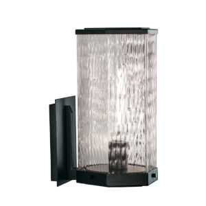 Polygon Matte Black One-Light 13-Inch Wall Sconce