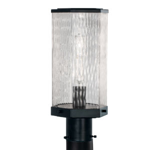 Polygon Matte Black One-Light 13-Inch Outdoor Post Lamp