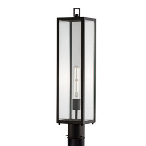Capture Matte Black One-Light 25-Inch Outdoor Post Lamp