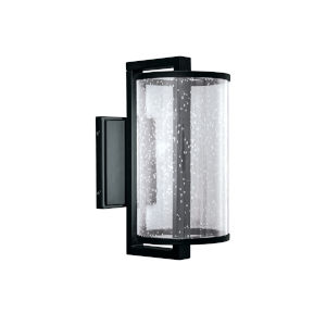 Candela Matte Black Six-Inch LED Outdoor Wall Mount