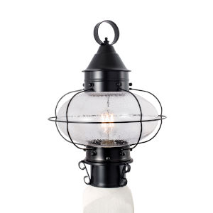 Cottage Onion Black 11-Inch One-Light Outdoor Post Mount